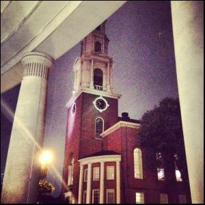 Park Street Church as seen from Suffolk University Law School, 9.28.2012, courtesy of David Bruce