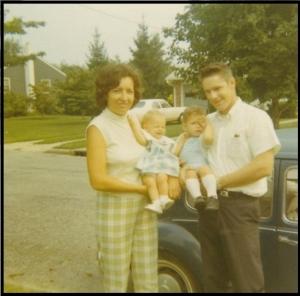 Carol, Gloria, Trey, Tad, ca. 1970