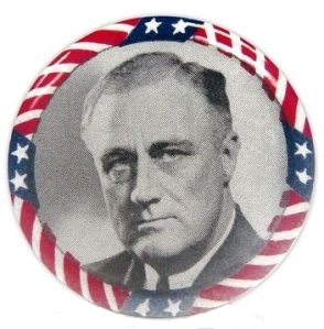 1944 Roosevelt Campaign Pin