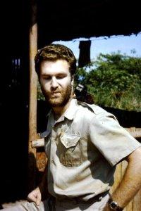 Steve with Pocket Monkey in Peru, 1966