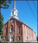 Bethany Presbyterian Church, present, 100 West Venango Street, Mercer, PA 16137, courtesy of rootsweb dot ancestry dot com