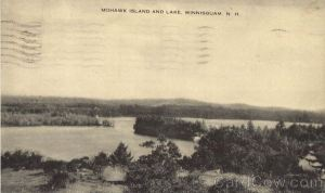 Lake Winnesquam, post marked 1938, cost to mail from Laconia 1 cent, courtesy of cardcow dot com