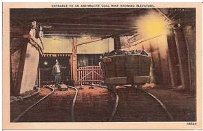 Entrance to an Anthracite Coal Mine Showing Elevators 1943