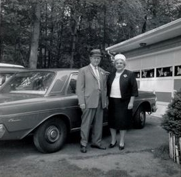 Taylor and Virginia, 1963, courtesy of Colin Duncan