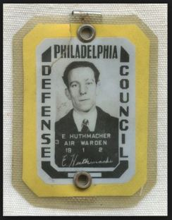 Philadelphia Defense Council Warden Badge, courtesy of Flying Tiger Antiques