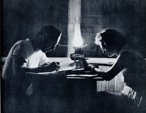 WBtW, Will and Lee Study in Kerosene Light, 1963or4, courtesy of Jim Duncan