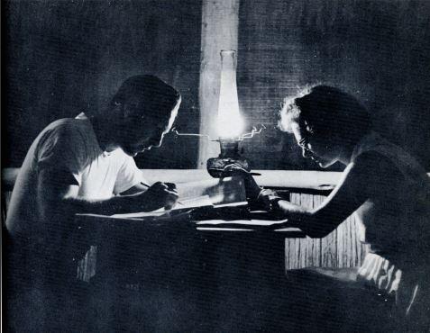WBtW, Will and Lee Study in Kerosene Light, 1963or4, courtesy of Jim Duncan