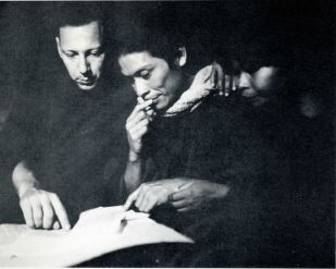 WBtW, Will Consulting with Jose Flores in Quempiri, 1963or4, courtesy of Jim Duncan