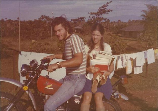 Doug and Virginia going to school, Lomalinda, Colombia, n. d.