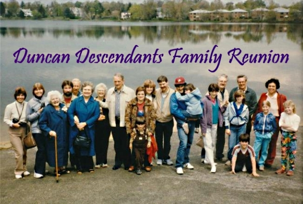 Family Reunion 1986, courtesy of Colin Duncan