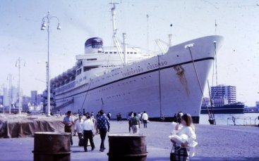 Cristoforo Colombo took Marcia, Steve, and Dawn to Italy, 1970.