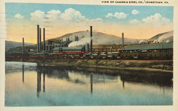 View of Cambria Steel Co. Johnstown, PA.