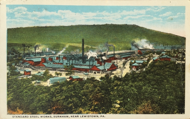 Standard Steel Works, Burnham, Near Lewistown, PA.