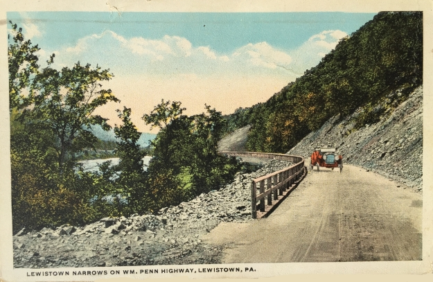 Lewistown Narrows on WM. Penn Highway, Lewistown, PA.